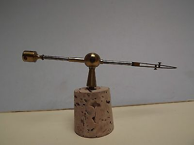 MICROSCOPE { Stage Forceps } Lacquered Brass [ C 1870 ] A1 Condition