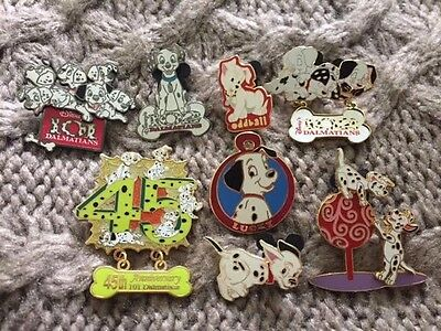 Disney 101 Dalmatians 8 pin lot (2 Limited Edition included)