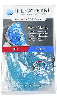 TheraPearl Face Mask Reusable Hot Cold Therapy Mask with Gel Beads