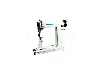 Yamata FY810 Sewing Machine,Reverse,Post Bed,Roller feed lamp Servo Motor+Table