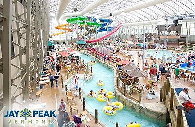 One-night stay for 4 people with passes to Jay Peak indoor waterpark
