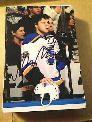 Magnus Paajarvi SIGNED 4x6 photo ST LOUIS BLUES