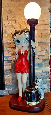 """Rare Betty Boop Bar Lamp King Features Syndicate 27"""" Tall 2002 Figurine USA Sell"""