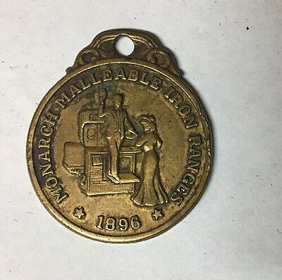 Vintage 1896 Monarch Malleable Iron Ranges Stove Watch Fob
