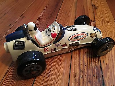 Vintage 1971 Ezra Brooks Indy 500 Decanter Platinum Paint Race Car