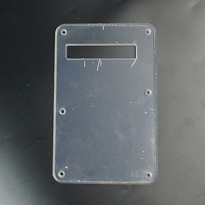 Standard Strat Style Guitar Cavity Cover Tremolo Back Plate ,Single-ply Clear