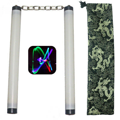 New Multi-Color Led Lamp Light Nunchucks Nunchakus Tranning Practice Performance