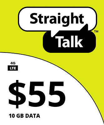 Straight Talk $55 Unlimited 30 Day 12GB Service Card