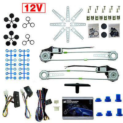 2 Door Universal Electric Car Truck Power Window Lifter Conversion Kit 12V 2017