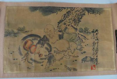 ANTIQUE CHINESE PAINTING scroll calligraphy landscape