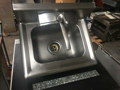 Delta Commercial Stainless Steel Hand Wash Washing Wall Mount Sink Kitchen