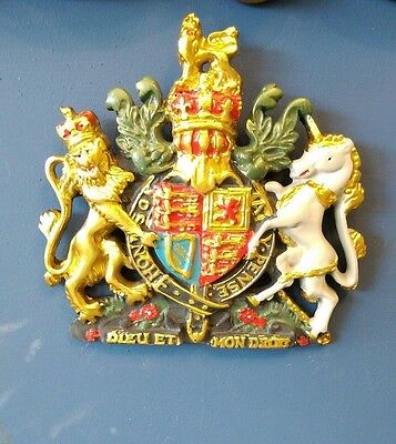Royal coat of Arms small painted Coat of Arms Hand finished resin Crest