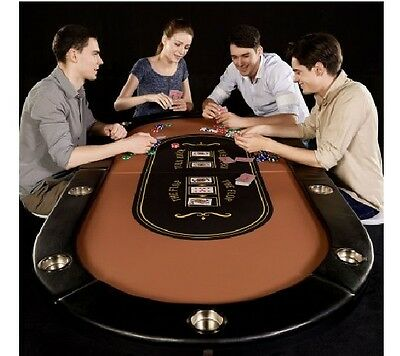 Barrington 10 Player Poker Table : No Assembly Required Game Built-in Steel New