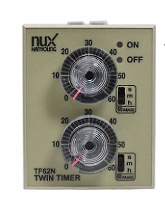 Hanyoung Nux TF62NE  AC/DC 24-240V Exposure type  58x84mm Analog Twin timer