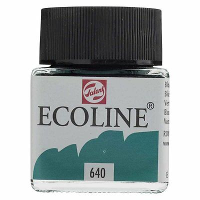ECOLINE - PAINTING & DRAWING LIQUID WATERCOLOUR INK - BLUISH GREEN 30ml