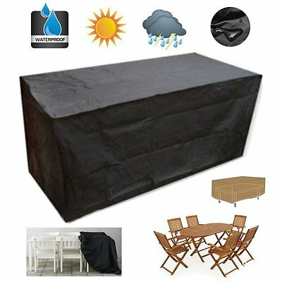 Large Waterproof Furniture Sofa Chair Set Cover Garden Outdoor Patio Protector
