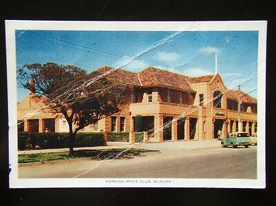 5 - Working Men's Club. Mildura - 1956 Postcard