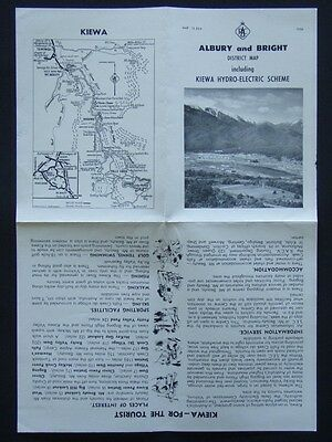 Albury And Bright District Map Including Kiewa Hydro-Electric Scheme Racv