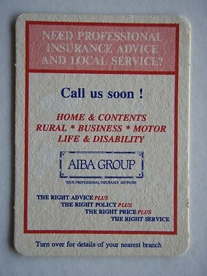 Aiba Group Insurance Advisors Coaster