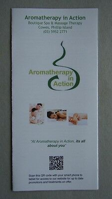 Aromatherapy In Action Boutique Spa & Massage Therapt Cowes Phillip Is. Brochure