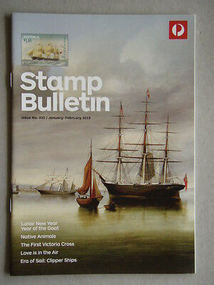 Australia Post Stamp Bulletin Issue No. 332 Jan - Feb 2015 Era Of Sail Clipper