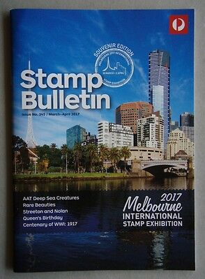 Australia Post Stamp Bulletin Issue No. 345 Mar - Apr 2017 Queen's 91th Birthday