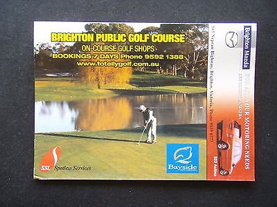 Brighton Public Golf Course Score Card