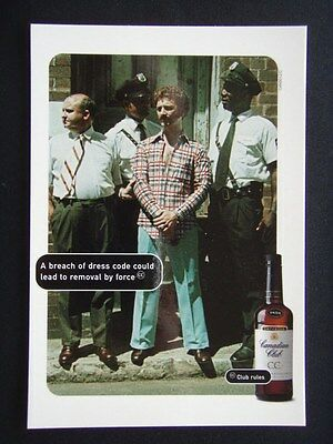 Canadian Club A Breach Dress Code Could Lead To Removal Propaganda Postcard
