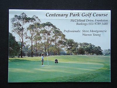 Centenary Park Golf Course Frankston Score Card