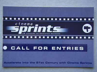 Cinema Sprints 30 Seconds To 3 Minutes Duration Advert Avant Card #5733 Postcard