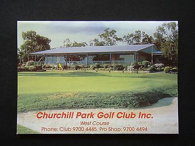 Churchill Park Golf Club Inc West Course Score Card