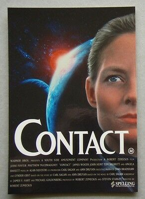 Contact Jodie Foster Jacobs Cafe Movie Of The Month Advert Propaganda Postcard