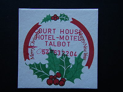Court House Hotel-Motel Talbot Merry Christmas 054 632204 Coaster