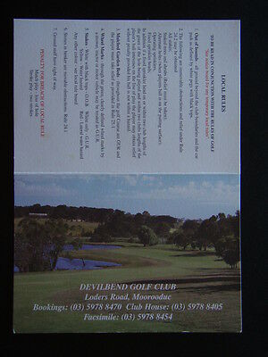 Devilbend Golf Club Moorooduc - Score Card