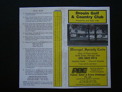 Drouin Golf & Country Club - Score Card