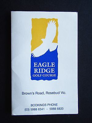Eagle Ridge Golf Course Score Card