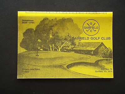 Garfield Golf Club Score Card