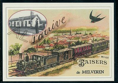 MELVEREN   ...   TRAIN    souvenir creation moderne serie numerotee