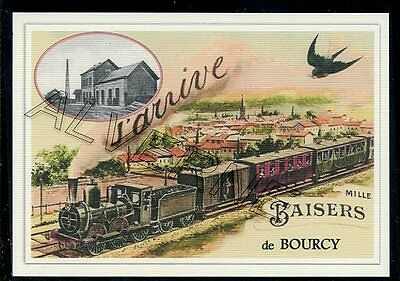 BOURCY -..train  souvenir creation moderne serie numerotee