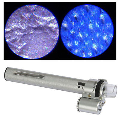 Portable Mini 100 X Optical Zoom HD Magnifier Microscope With Led Light Source