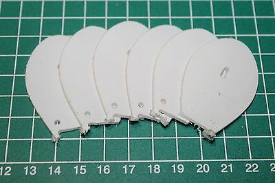6 x 2mm Polycarbonate Shallow Diver Lure Bibs-for making your own lures #4