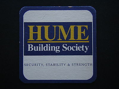 Hume Building Society Security Stability & Strength Coaster