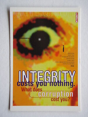 Integrity Costs You Nothing Icac Advert Avant Card #1006 Postcard