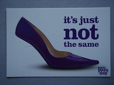 It's Just Not The Same - Equal Pay = Day Eowa Advert Avant Card #13582 Postcard