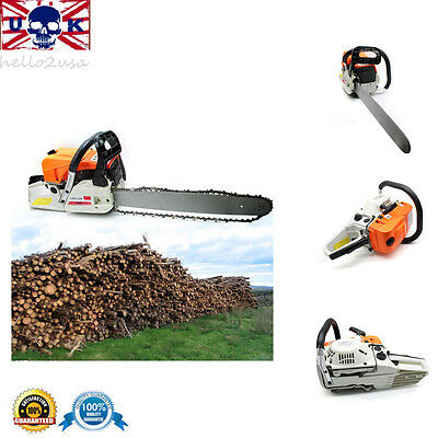 """52cc 2-stroke Petrol Chainsaw Trimmer Strimmer with 20"""" Bar&Saw Chain POWER TOOL"""