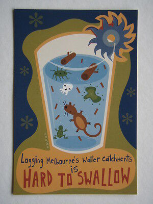 Logging Melbourne's Water Catchments Hard To Swallow Avant Card #4531 Postcard