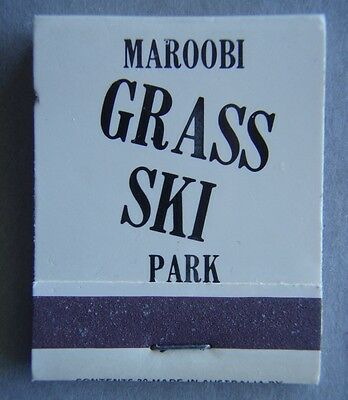 Maroobi Grass Ski Park Near Lake Eacham Atherton 911885 Matchbook (MK1)
