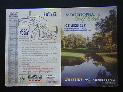 Mooroopna Golf Club - Score Card