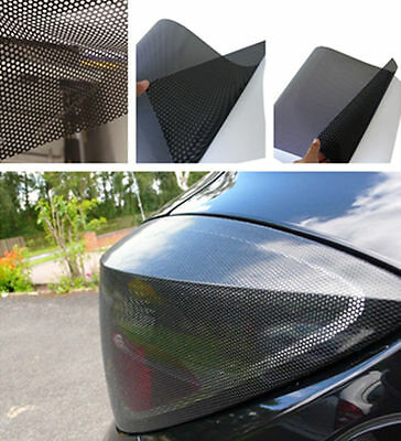 One-Way Perforated Black Vinyl Privacy Window Film Adhesive Glass Wrap Roll