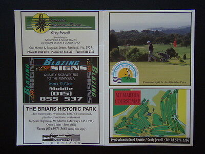 Mt. Martha Public Golf Course - Score Card